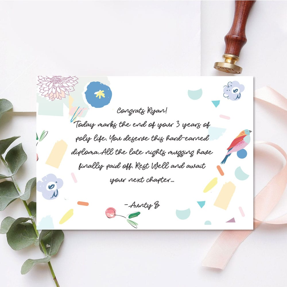 Custom Message One Sided Gift Card Design 6